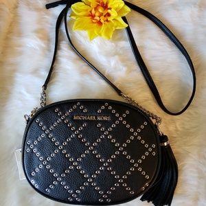 NWT Michael Kors Ginny Studded Crossbody Bag